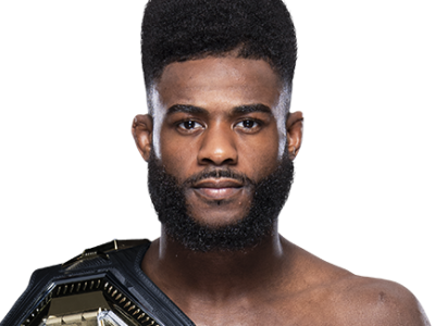 UFC bantamweight champion Aljamain Sterling profile image with belt