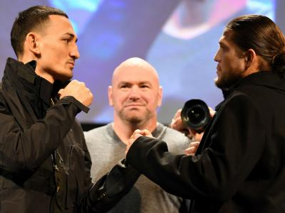 Max Holloway and Brian Ortega