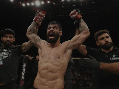 SAO PAULO, BRAZIL - SEPTEMBER 22: Elizeu Zaleski dos Santos of Brazil celebrates after knocking out Luigi Vendramini of Brazil in their welterweight bout during the UFC Fight Night event at Ibirapuera Gymnasium on September 22, 2018 in Sao Paulo, Brazil. (Photo by Buda Mendes/Zuffa LLC/Zuffa LLC via Getty Images)