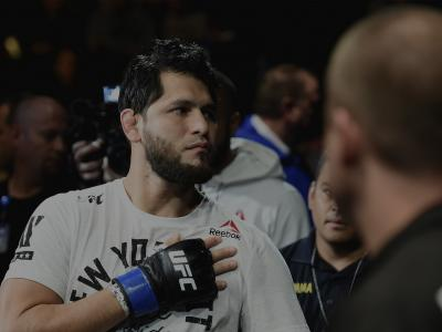 NEW YORK, NY - NOVEMBER 04: Jorge Masvidal approaches the octagon for his welterweight bout against Stephen Thompson during the UFC 217 event at Madison Square Garden on November 4, 2017 in New York City. (Photo by Josh Hedges/Zuffa LLC/Zuffa LLC via Getty Images)