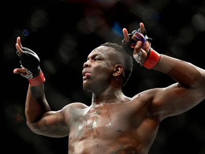 NEW YORK, NY - NOVEMBER 04: Ovince Saint Preux celebrates his victory over Corey Anderson in their light heavyweight bout during the UFC 217 event at Madison Square Garden on November 4, 2017 in New York City. (Photo by Jeff Bottari/Zuffa LLC/Zuffa LLC via Getty Images)