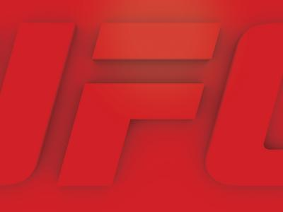 UFC 3D logo with Generic Red Color