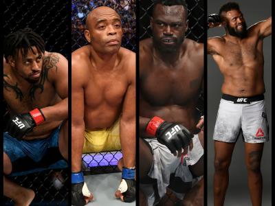 UFC Vegas 12 Stars Anderson Silva Uriah Hall Greg Hardy Maurice Greene