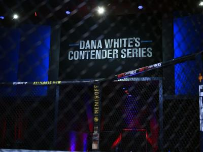 A general view of the Octagon prior to Dana White's Contender Series season four, week nine at UFC APEX on November 10, 2020 in Las Vegas, Nevada. (Photo by Chris Unger/DWCS LLC/Zuffa LLC)