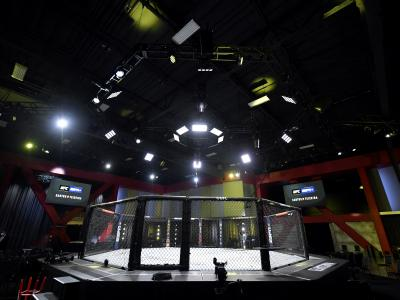 A general view of the Octagon during the UFC Fight Night event at UFC APEX on November 07, 2020 in Las Vegas, Nevada. (Photo by Jeff Bottari/Zuffa LLC)