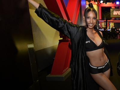 Octagon Girl Brooklyn Wren, November 07, 2020 in Las Vegas, Nevada. (Photo by Jeff Bottari/Zuffa LLC)