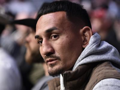 Featherweight contender Max Holloway is seen in attendance during the UFC 248 event at T-Mobile Arena on March 07, 2020 in Las Vegas, Nevada. (Photo by Chris Unger/Zuffa LLC)