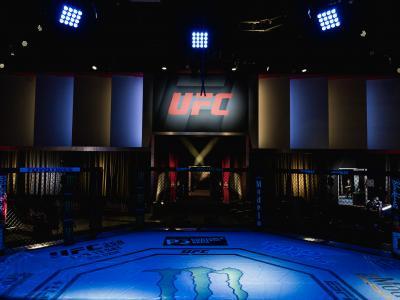Octógono do UFC Apex no UFC Vegas 18
