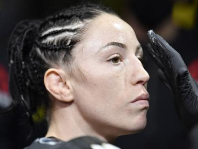 Mallory Martin prepares to fight Hannah Cifers in their strawweight fight during the UFC Fight Night event at UFC APEX on August 29, 2020 in Las Vegas, Nevada. (Photo by Jeff Bottari/Zuffa LLC)