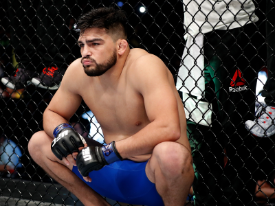 Kelvin Gastelum stands in the Octagon prior to his middleweight bout against Vitor Belfort of Brazil during the UFC Fight Night event at CFO - Centro de Formaco Olimpica on March 11, 2017 in Fortaleza, Brazil. (Photo by Buda Mendes/Zuffa LLC)
