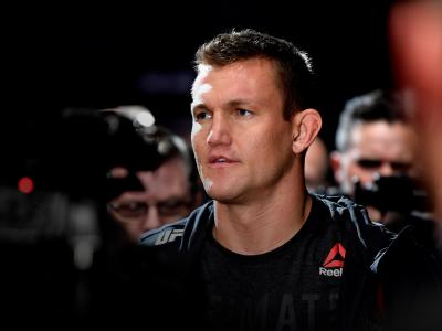 DECEMBER 14: Ian Heinisch walks to the octagon during his middleweight bout during the UFC 245 event at T-Mobile Arena on December 14, 2019 in Las Vegas, Nevada. (Photo by Jeff Bottari/Zuffa LLC)