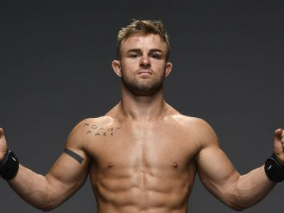 Cody Stamann poses for a portrait backstage during the UFC 250 event at UFC APEX on June 06, 2020 in Las Vegas, Nevada. (Photo by Mike Roach/Zuffa LLC)