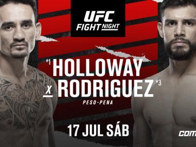 Max Holloway e Yair Rodriguez fazem luta principal em 17 de julho