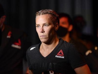 Katlyn Chookagian prepares to enter the Octagon prior to her women's flyweight bout against Cynthia Calvillo during the UFC 255 event at UFC APEX on November 21, 2020 in Las Vegas, Nevada. (Photo by Jeff Bottari/Zuffa LLC)