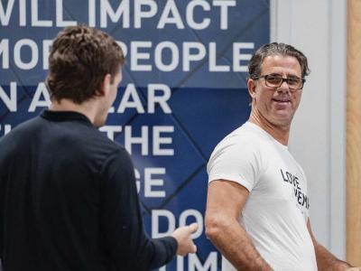 Henri Hooft talks with Brendan Allen at Sanford MMA (photo by Zac Pacleb/Zuffa LLC)