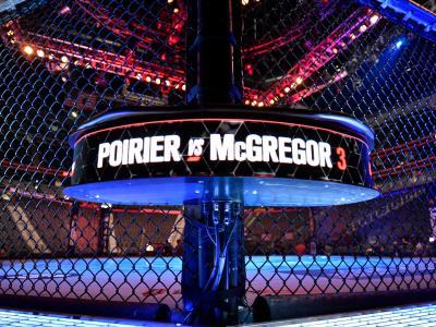 Octógono do UFC 264: Poirier x McGregor 3