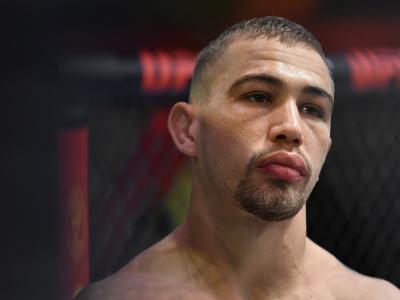 JP Buys of South Africa prepares to fight l in their flyweight fight during the UFC Fight Night event at UFC APEX on March 20, 2021 in Las Vegas, Nevada. (Photo by Chris Unger/Zuffa LLC)