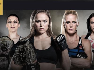 UFC 193 image with Rousey, Holm, Letourneau, and Jedrzejczyk