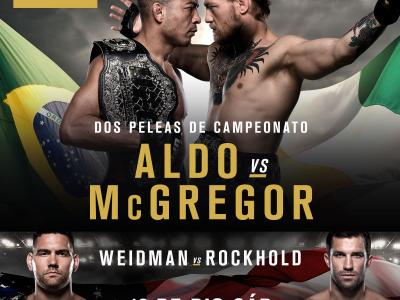 UFC 194 Jose Aldo vs Conor McGregor, Chris Weidman vs Luke Rockhold