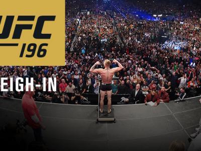 UFC 196 Mcgregor vs. Diaz official weigh-in
