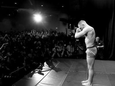 Conor McGregor at the UFC 196 Open Workouts