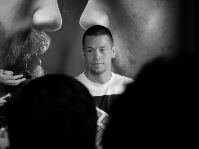 Nate Diaz at the UFC 196 Open Workouts