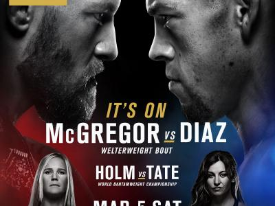 Nate Diaz Conor McGregor Holly Holm Miesha Tate UFC 196 event poster