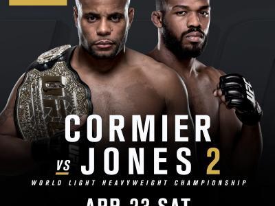 English fight announcement UFC light heavyweight champion Daniel Cormier against Jon Jones