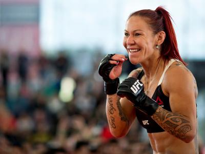 "RIO DE JANEIRO, BRAZIL - MAY 11: Catchweight Cris ""Cyborg"" Justino of Brazil holds an open training session at Arena da Baixada stadium on May 11, 2016 in Curitiba, Brazil. (Photo by Buda Mendes/Zuffa LLC/Zuffa LLC via Getty Images) ***Local Caption*** Cr"