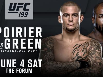 fight announcement: Dustin Poirier vs Bobby Green June 4 2016 wide