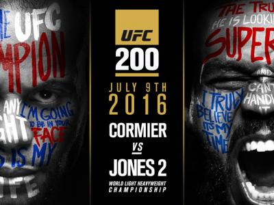 Daniel Cormier vs Jon Jones at UFC 200 art