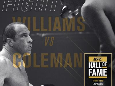 2016 Hall of Fame fight wing inductees Pete Williams and Mark Coleman