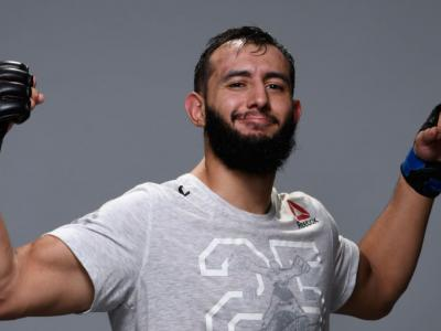 Dominick Reyes poses for a portrait backstage during the UFC 229
