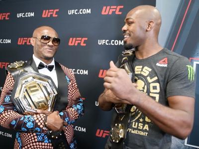 Kamaru Usman and Jon Jones after UFC 235