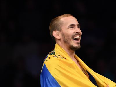 Marlon Vera celebrating after his UFC Nashville victory