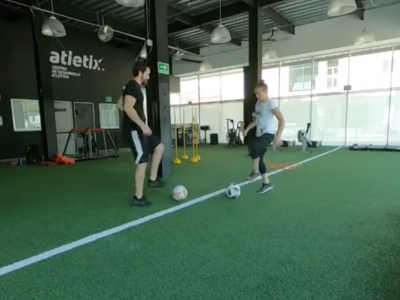 Alexa Grasso soccer drills Instagram screenshoot