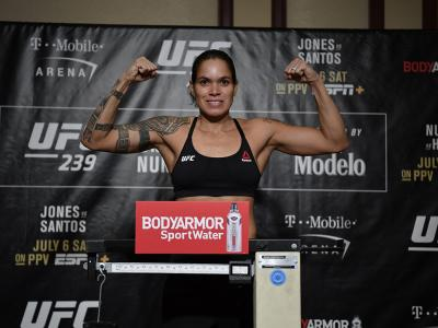 UFC 239 official weigh ins Amanda Nunes