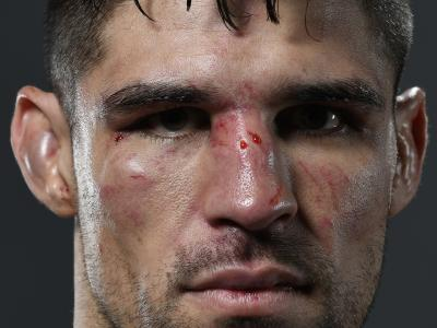 HERO - Vicente Luque poses for a portrait after his victory over Mike Perry during the UFC Fight Night