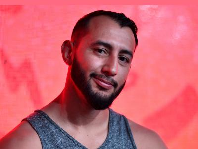 HERO - UFC Light Heavyweight Dominick Reyes poses for a photo during the UFC Fan Experience