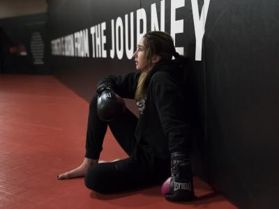 21- UFC 246 Sabina Mazo training at the UFC Performance Institute