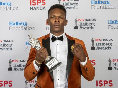 The ISPS Handa Sportsman of the Year Award winner is mixed martial arts Israel Adesanya at the ISPS Handa Halberg Awards