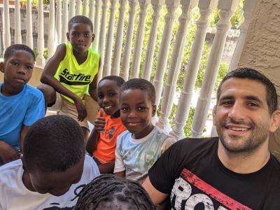 Beneil Dariush in his orphanage at Cap-Haïtien, Haiti