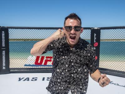 Michael Chandler at Yas Beach during UFC 254 fight week