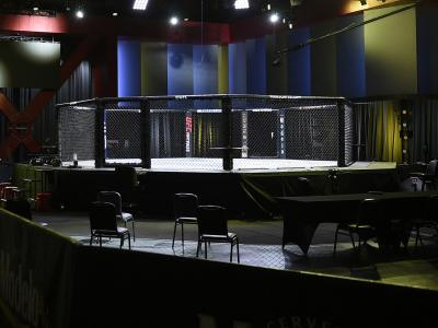 A general view inside the UFC APEX prior to the UFC Fight Night event on August 22, 2020 in Las Vegas, Nevada. (Photo by Chris Unger/Zuffa LLC)