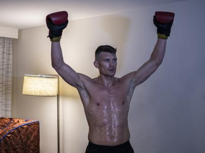 Stephen Thompson training during UFC Vegas 17