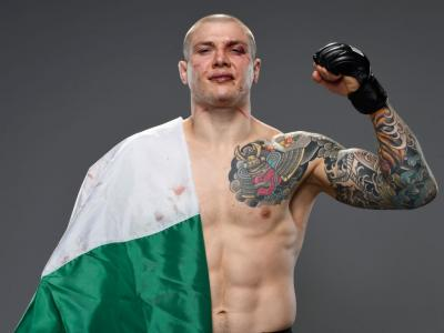 LAS VEGAS, NEVADA - DECEMBER 05: Marvin Vettori of Italy poses for a portrait after his victory during the UFC Fight Night event at UFC APEX