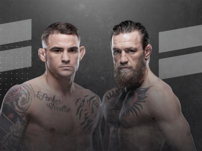 UFC 257 Dustin Poirier vs Conor McGregor HERO