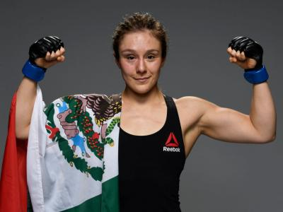 LAS VEGAS, NEVADA - AUGUST 29: Alexa Grasso of Mexico poses for a portrait after her victory during the UFC Fight Night event at UFC APEX