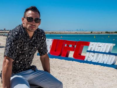 ABU DHABI, UNITED ARAB EMIRATES - OCTOBER 20: Michael Chandler poses for a portrait on Yas Beach on October 20, 2020