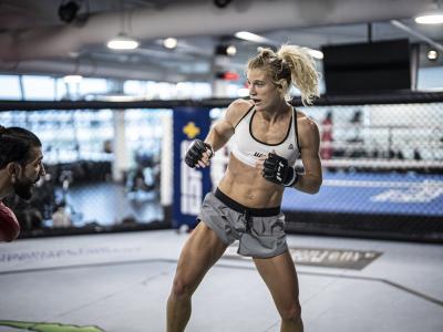 Manon Fiorot training for UFC 266